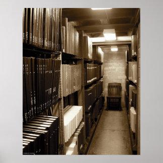 Music Manuscript Library Poster