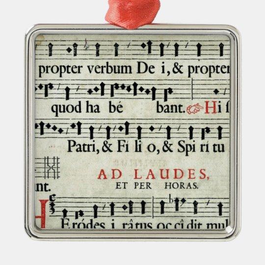 Music Manuscript Metal Ornament