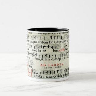 Music Manuscript Two-Tone Coffee Mug