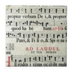 Music Manuscript Tile