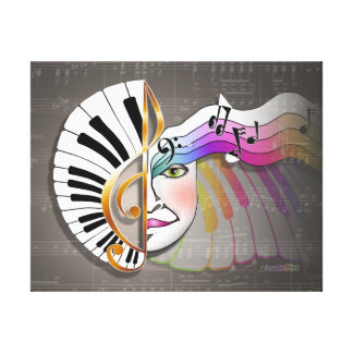 MUSIC MASK Gallery Wrapped Canvas