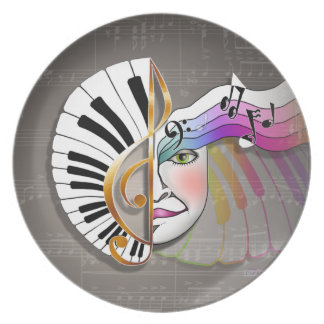 Music Mask Piano Plate