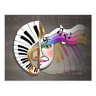 Music Mask POST CARDS