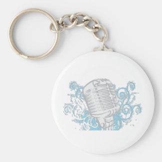 Music Master Basic Round Button Keychain