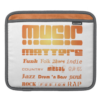 Music Matters Sleeve For iPads