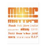 Music Matters Wenskaart