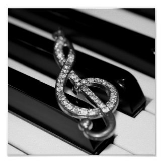 Music & Me - Piano G-clef Poster