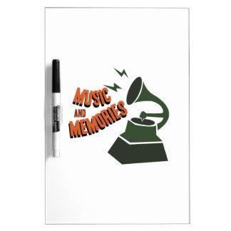 Music & Memories Dry-Erase Boards