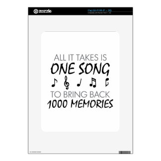 Music Memories iPad Skin
