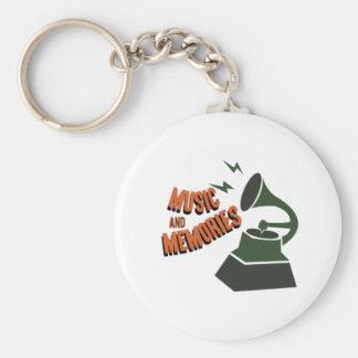 Music & Memories Basic Round Button Keychain