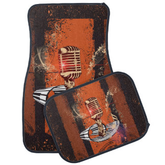 Music, Microphone Car Floor Mat