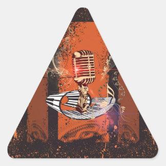 Music, Microphone Triangle Sticker