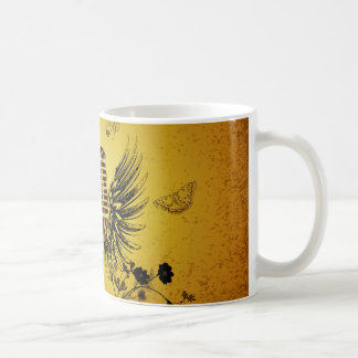 Music, microphone with wings coffee mug