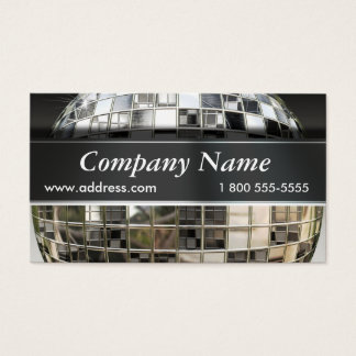Music Mirrorball Business Cards