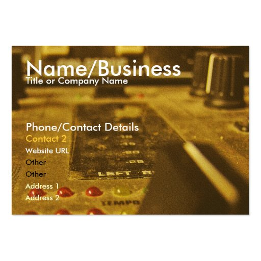 Music Mix Profile Card Business Card Template