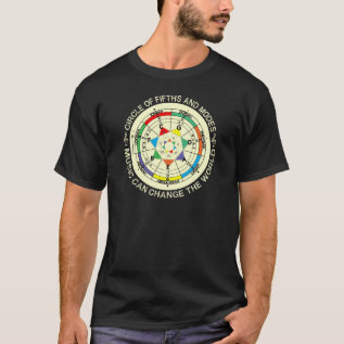 Music Modes Chart And Circle Of Fifths T-shirt at Zazzle
