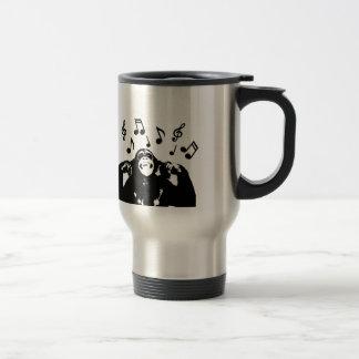 music monkeymonkey 15 oz stainless steel travel mug