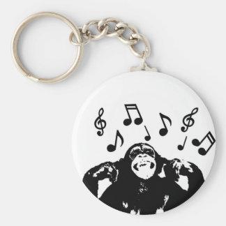 music monkeymonkey basic round button keychain