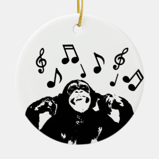 music monkeymonkey ceramic ornament