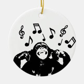 music monkeymonkey ceramic ornament