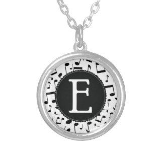 Music Monogram Letter E Gift Necklace