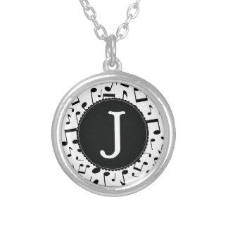 Music Monogram Letter J Gift Necklace