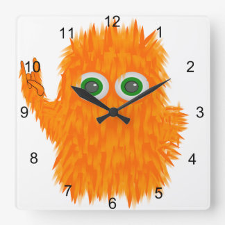 Music Monster Square Wall Clock