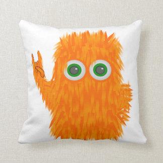 Music Monster Throw Pillow