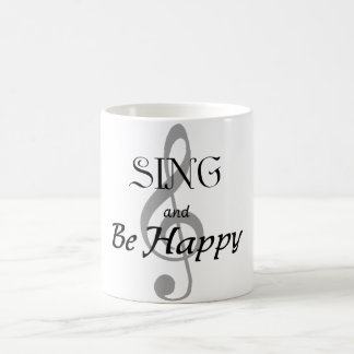 "Music Mug ""Sing and Be Happy"""