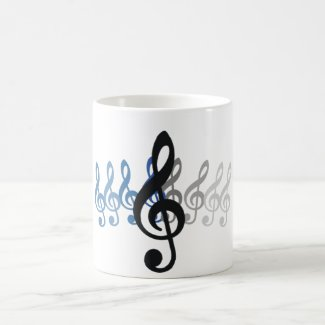 Music Mug with Treble Clef