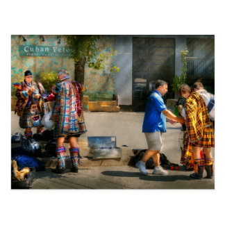 Music - Mummers preperation Postcard