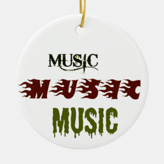 Music Music Music Christmas Ornaments