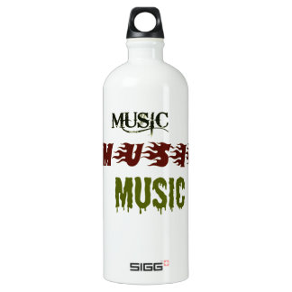 Music Music Music Water Bottle