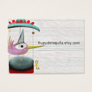 Professional Business Music musical box bird magical cute business card