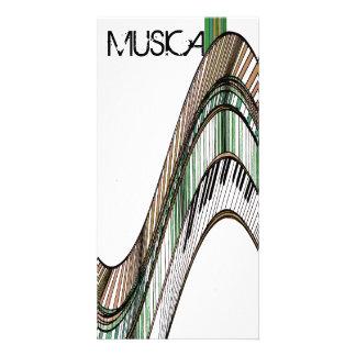 Music Musical Keyboards Piano Gift Card Photo Greeting Card