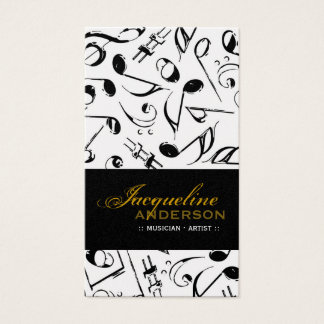 Music Musical Notes Pattern Artist Singing Song Business Card