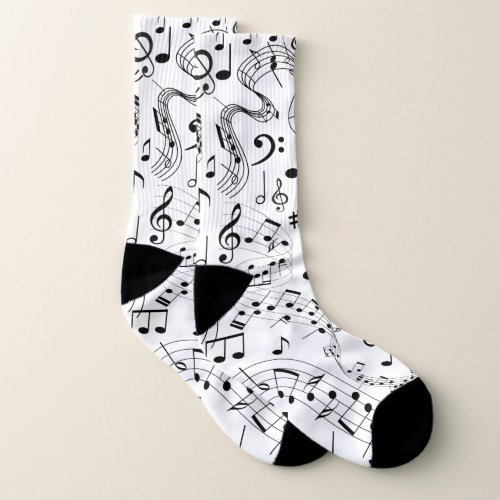 Music Musical Notes Socks