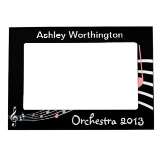 Music: Musical Student in Band, Choir, Orchestra Magnetic Photo Frame