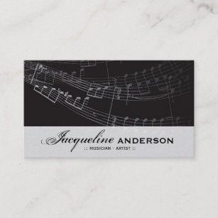 Music Musical Symphony Notes Song Singing Artist Business Card