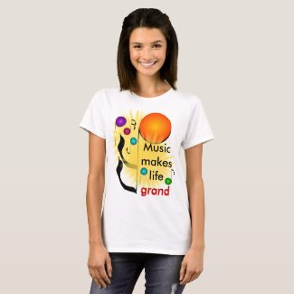 Music Musicians Colorful Upbeat Grand Musical Fun T-Shirt