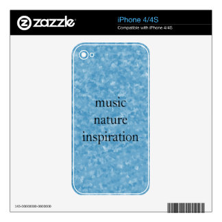 Music nature inspiration skins for iPhone 4S