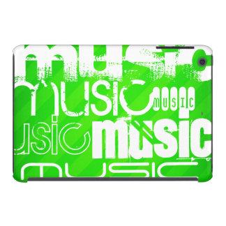 Music; Neon Green Stripes iPad Mini Case