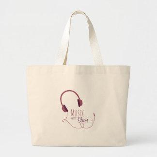 Music Never Sleeps Large Tote Bag