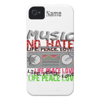 Music, No Hate custom iPhone 4 Case-Mate