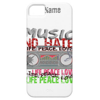 Music, No Hate custom iPhone 5 Case-Mate