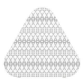 Music Nordic Knit Text ASCII Art Black and White Bluetooth Speaker