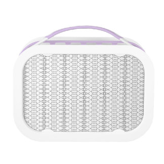 Music Nordic Knit Text ASCII Art Black and White Lunch Box