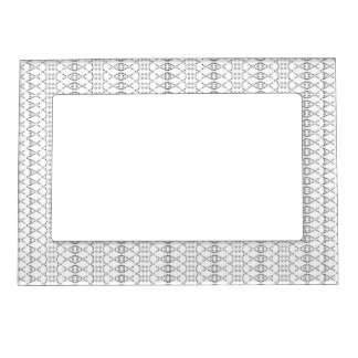 Music Nordic Knit Text ASCII Art Black and White Magnetic Frame