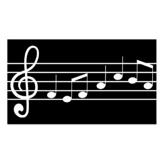music notation Double-Sided standard business cards (Pack of 100)