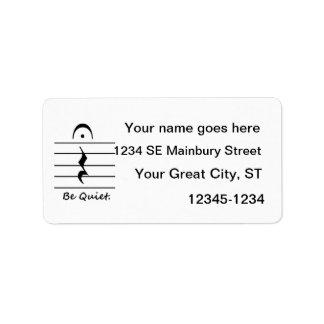 Music Notation Rest Be Quiet Label